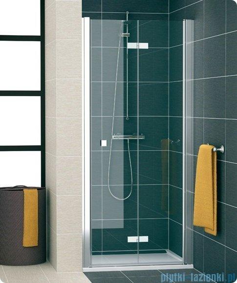 SanSwiss Swing Line F SLF1 Drzwi dwucześciowe 80cm profil połysk Prawe SLF1D08005007