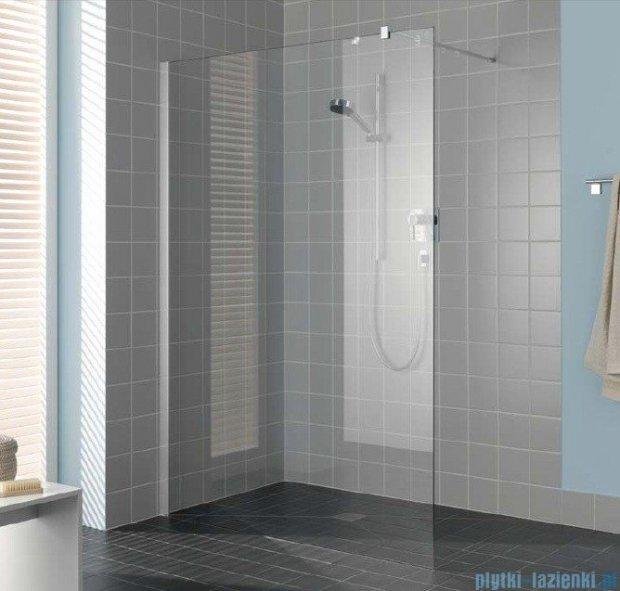 Kermi Filia Xp Ściana Walk-in Wall, stabilizator 90 stopni, szkło przezroczyste, profile srebrne 90x200cm FXTWF09020VAK