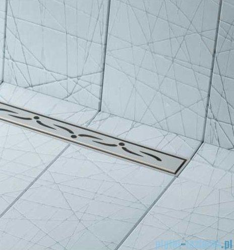 Schedpol brodzik posadzkowy podpłytkowy ruszt Slim Lux Stamp 130+50x90x5cm 10.113/OLSP