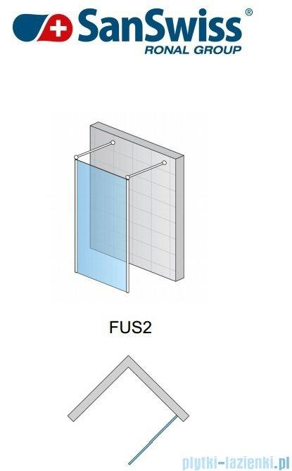 SanSwiss Fun Fus2 Ścianka wolnstojąca 100cm profil połysk FUS210005007