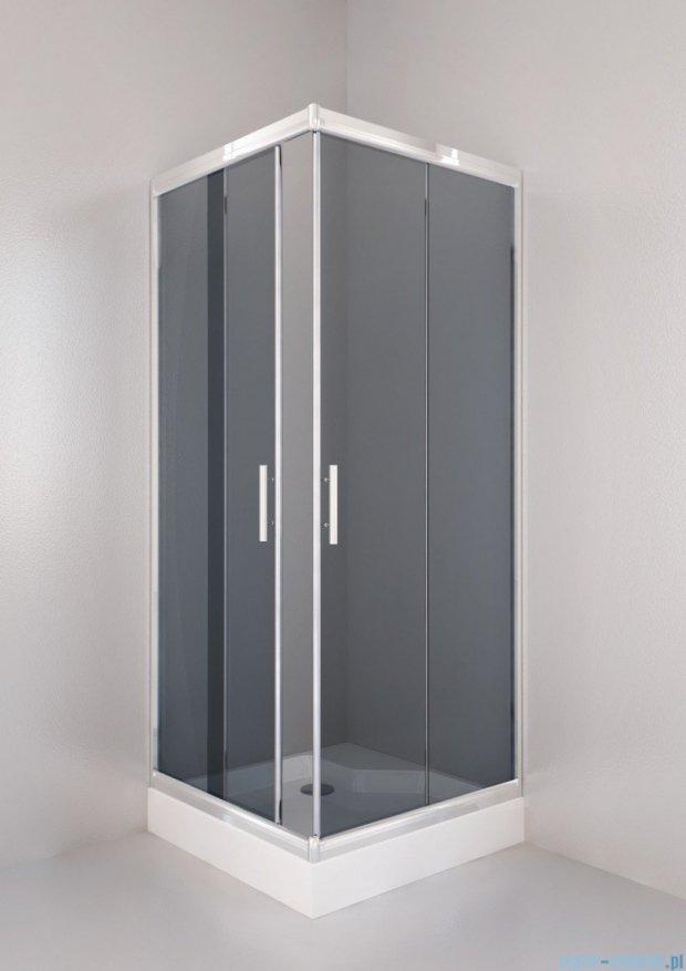 Sea Horse Sigma kabina natryskowa narożna kwadratowa, 80x80, szkło: grafitowe,   BK001/3/QG