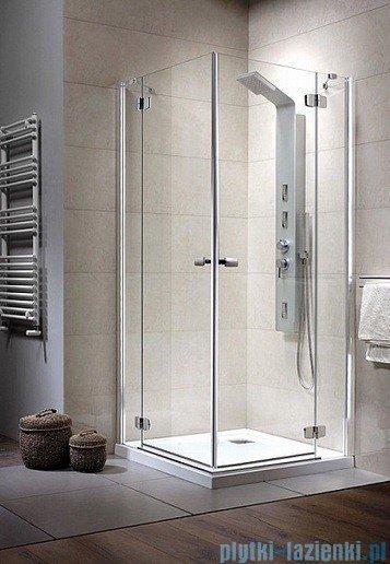 Radaway Kabina prysznicowa Fuenta KDD 90x80 szkło grafitowe 381066-05L