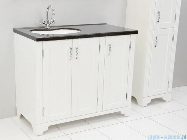 Antado Ritorno szafka biała z umywalką i blatem grafit 100x50x81cm VR-240-10-14+UMB-1004-02