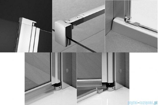 Radaway Eos II KDD kabina prysznicowa 90x90 szkło przejrzyste + brodzik Delos C + syfon 3799461-01L/3799461-01R/SDC0909-01