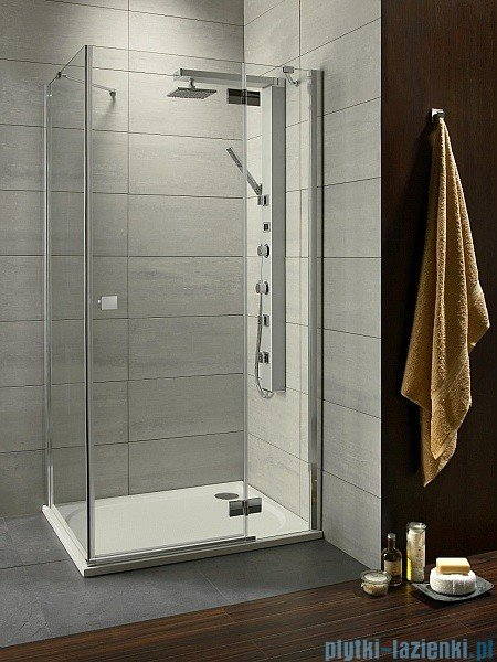 Almatea KDJ Radaway Kabina prysznicowa 90x80 prawa szkło brązowe 32148-01-08NR