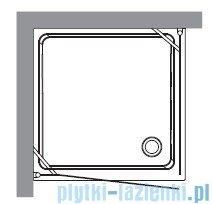 Kerasan Retro Kabina kwadratowa prawa szkło piaskowane profile chrom 90x90 9146S0
