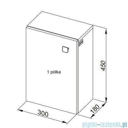 Aquaform Flex szafka wisząca prostokątna 45cm biała 0410-640106