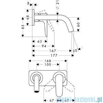 Hansgrohe Axor Citterio M Jednouchwytowa bateria umywalkowa podtynkowa 34112000