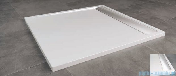 SanSwiss Ila WIQ Brodzik kwadratowy 80x80cm kolor biały/połysk WIQ0805004