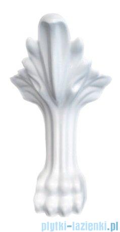 Besco Otylia wanna owalna Retro 170x77 czarno-biała + nogi białe