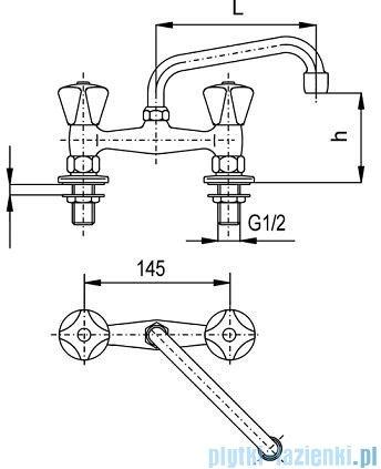KFA STANDARD Bateria umywalkowa stojąca dwuotworowa dł. 160 mm 301-350-00