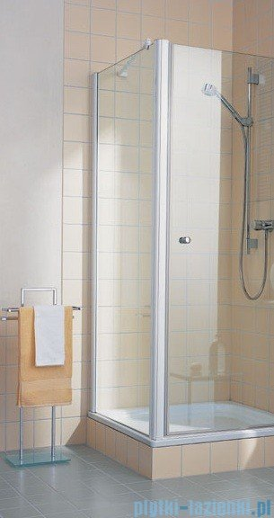 Kermi Atea Ściana boczna, szkło przezroczyste z KermiClean, profile białe 90x200cm ATTWD090202PK
