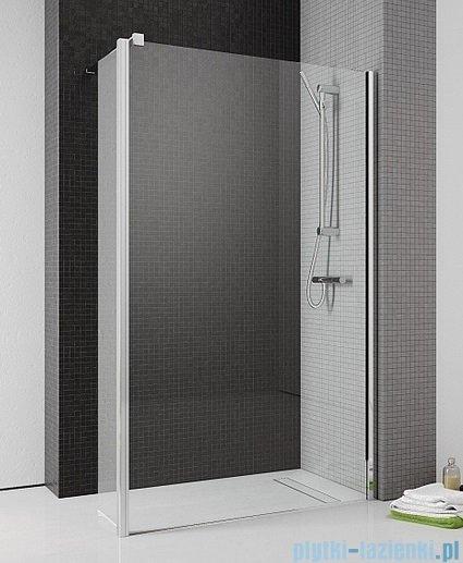 Radaway Eos II Walk-in kabina prysznicowa 80 prawa szkło przejrzyste + brodzik Delos C + syfon 3799500-01R/SDC0808-01
