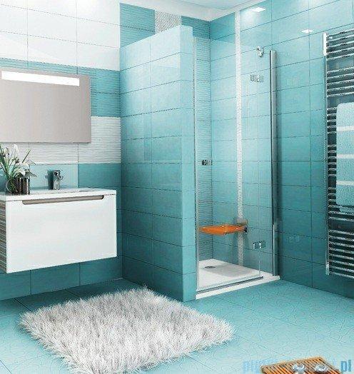 Ravak Drzwi prysznicowe SmartLine SMSD2-120 B prawe chrom+transparent 0SPGBA00Z1