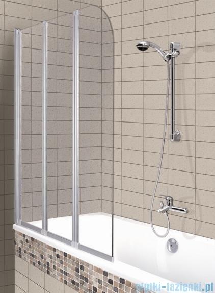Aquaform Modern 3 parawan nawannowy 120,5x140cm szkło przejrzyste profil chrom mat 06956