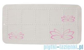Sealskin Lotus mata antypoślizgowa 35x70cm Pink 315218450