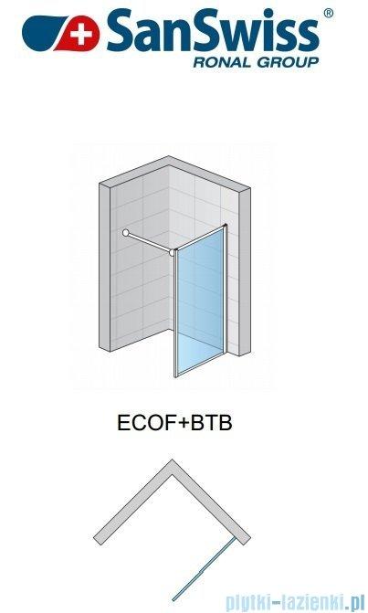 SanSwiss Eco-Line Ścianka boczna ECOF 120cm profil srebrny szkło przezroczyste ECOF12000107