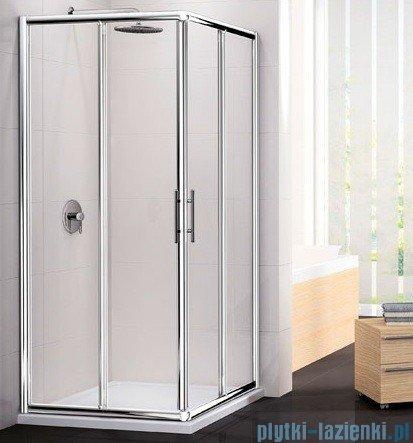 Novellini Ścianka Kabiny prysznicowej LUNES 84 cm szkło przejrzyste profil srebrny LUNESA84L-1B