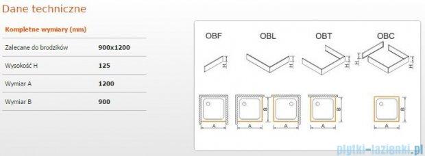 Sanplast Obudowa brodzika OBL 90x120x12,5 cm 625-401-1550-01-000