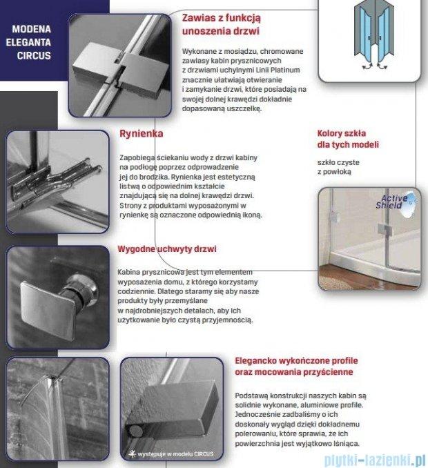 New Trendy Circus kabina prysznicowa przyścienna przejrzyste 100x85  EXK-1001