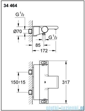Grohe Grohtherm 2000 NEW bateria wannowa z termostatem DN 15 34464001