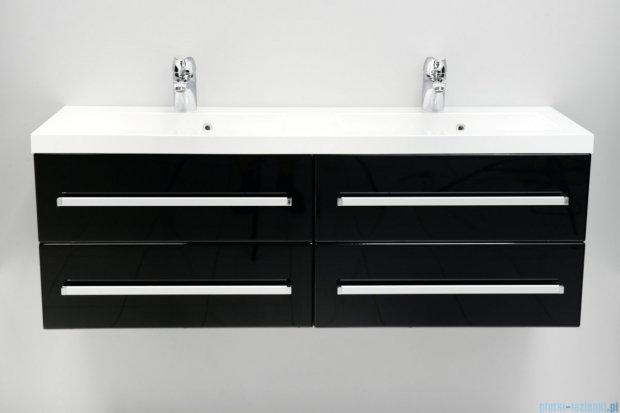 Antado Variete szafka z umywalką, wisząca 120 czarny połysk FM-C-442/6/2GT-9017 + FM-C-442/6/2GT-9017 + UMMC-1200x390D