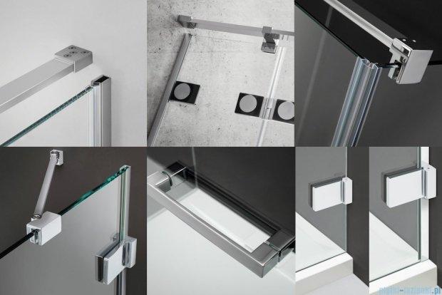 Radaway Euphoria KDJ Kabina prysznicowa 80x100 lewa szkło przejrzyste 383043-01L/383052-01