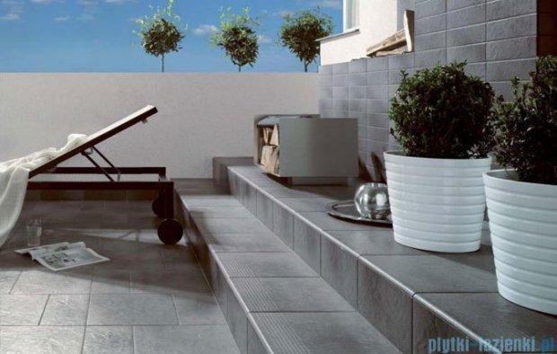 Paradyż Taurus rosa klinkier cokół schodowy lewy 30x30