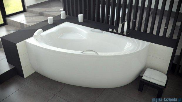Besco Natalia Premium 150x100cm Wanna asymetryczna Lewa+Zagłówek+2szt Uchwytów
