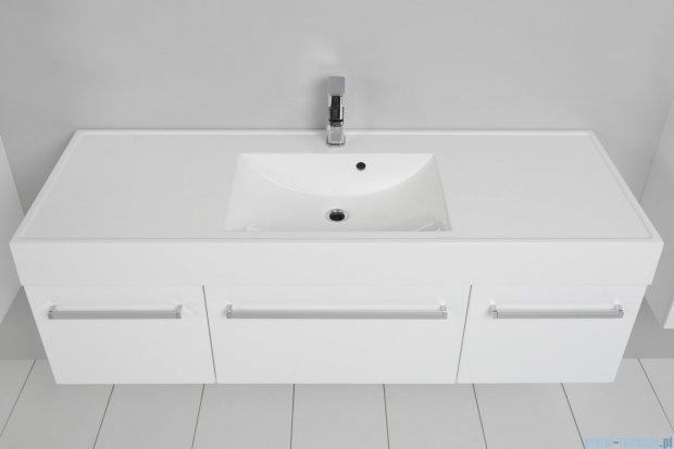 Antado Variete szafka z umywalką, wisząca 140 biały połysk 2xFM-442/4 + FM-442/6 + UNAM-1404C