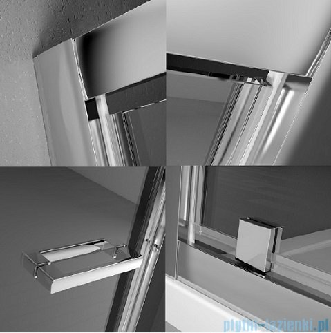 Radaway Twist DW+S Kabina prysznicowa 80x80 szkło przejrzyste + brodzik Delos C + syfon 382001-01/382011-01/SDC0808-01