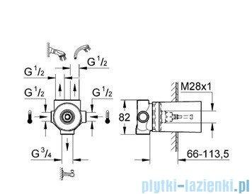 Grohe Ondus przełącznik pięciodrożny element do zabudowy 29033000