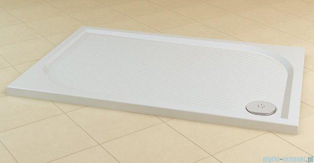 SanSwiss Marblemate Wma Brodzik prostokątny 80x160cm granit czarny WMA80160154