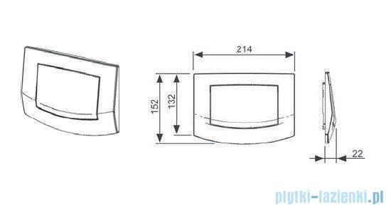 Tece Przycisk spłukujący do WC Teceambia biały antybakteryjny 9.240.140