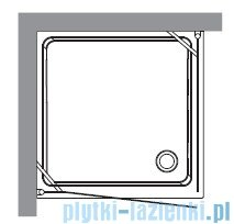 Kerasan Retro Kabina kwadratowa prawa szkło piaskowane profile brązowe 90x90 9146S3