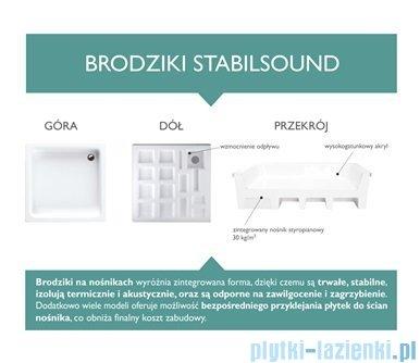 Schedpol Competia Brodzik asymetryczny prawy z nośnikiem 85x120x14cm 3.0174