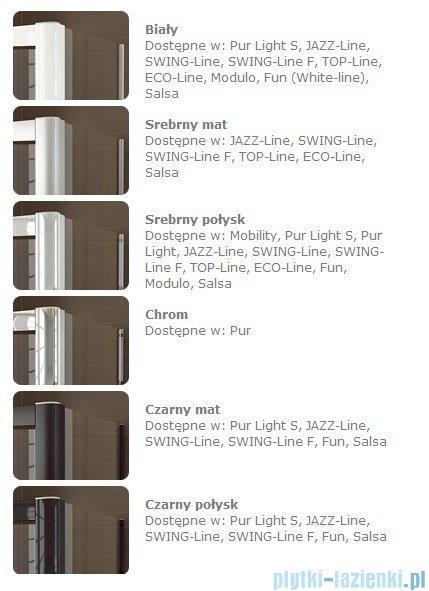 SanSwiss Swing Line SL2 Drzwi 2-częściowe 90-125cm profil srebrny SL2SM20107
