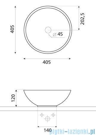 Bathco umywalka kamienna nablatowa Catania beige 40,5x12 cm 00301