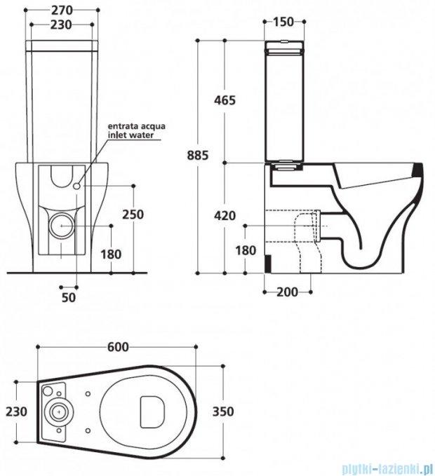 Kerasan K09 Zestaw WC kompakt (3617,3681,7509,347601)