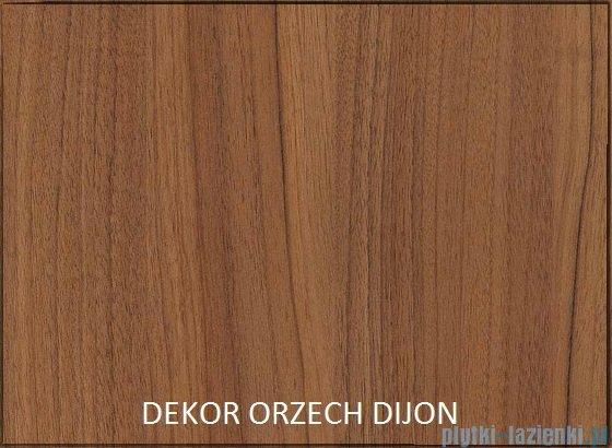 Antado Grande słupek niski z blatem prawy 40x32x90cm orzech Dijon+biały GR-165R-3734/WS