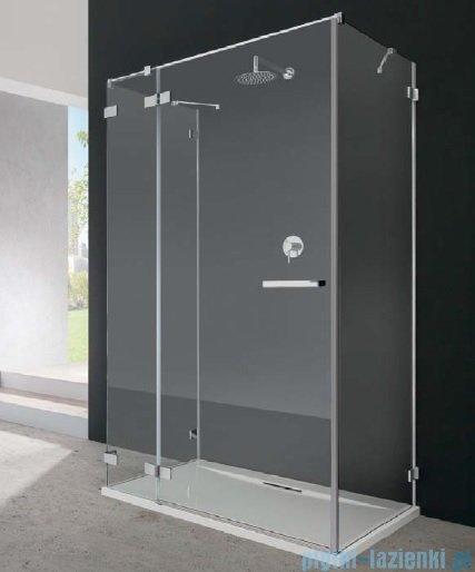 Radaway Euphoria KDJ+S Kabina przyścienna 100x100x100 lewa szkło przejrzyste + brodzik + syfon 383022-01L/383052-01/383032-01/SDC1010-01