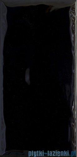 Paradyż Tamoe ondulato nero płytka ścienna 9,8x19,8