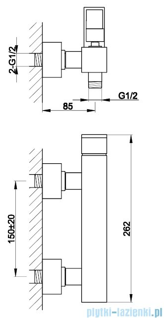 Kohlman Nexen bateria prysznicowa chrom QW120U