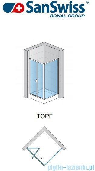 SanSwiss TOPF Ścianka boczna 90cm profil biały TOPF09000407