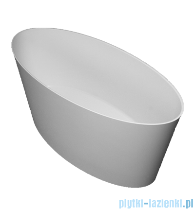 Omnires Roma wanna 159x72cm wolnostojąca biały połysk MARBLE+ROMA159BP