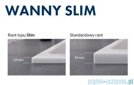 Excellent Sfera Slim wanna narożna 170x100 cm biała prawa WAEX.SFP17WHS