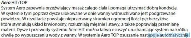 Riho Geta Wanna asymetryczna 170x90 lewa z hydromasażem TOP Aero11 BA89T1