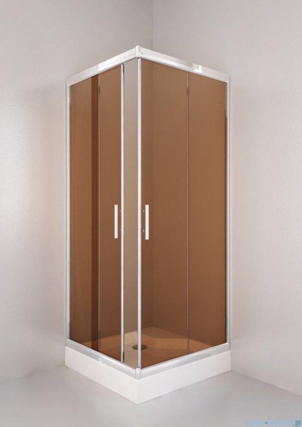 Sea Horse Sigma kabina natryskowa narożna kwadratowa, 90x90, szkło: brązowe,   BK002/3/QB