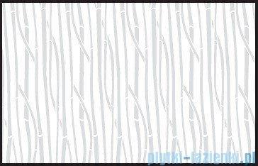 Kermi Cada Kabina ćwierćkolista z drzwiami wahadłowymi, szkło Serigrafie CadaClean 80x80cm CAP53080182CK