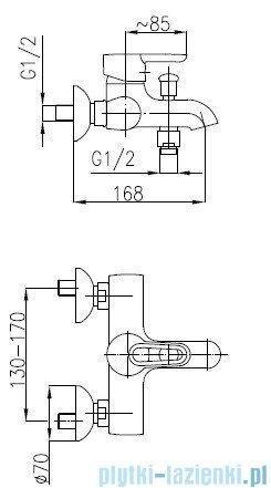 KFA BAZALT Bateria zlewozmywakowa ścienna 4700-910-00